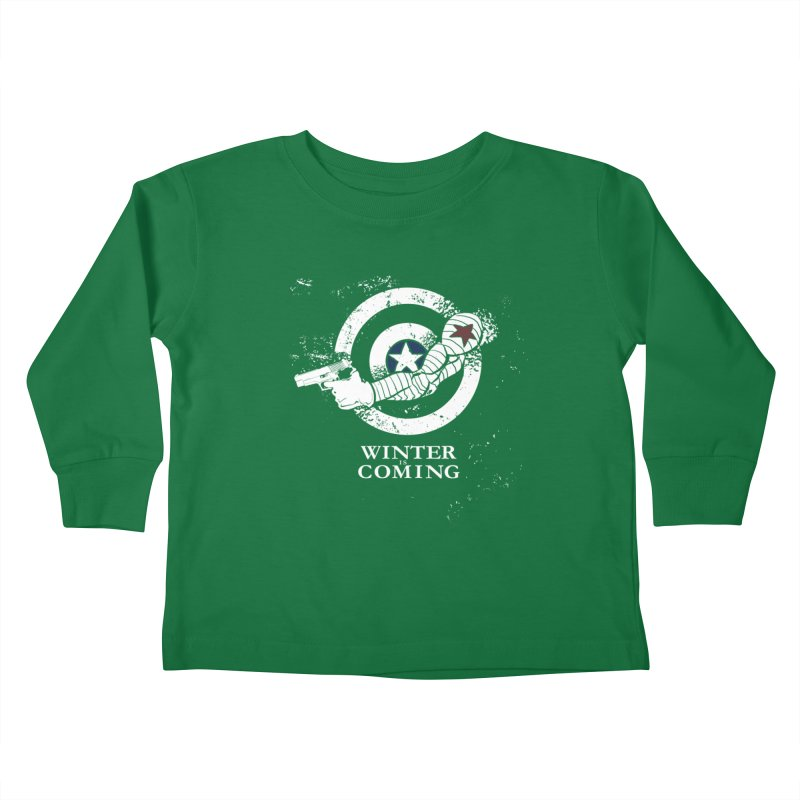 Bucky is Coming Kids Toddler Longsleeve T-Shirt by CFDunbar Designs