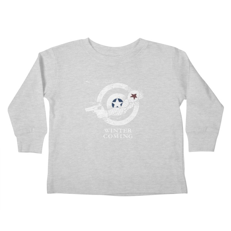 Bucky is Coming Kids Toddler Longsleeve T-Shirt by CFDunbar Designs