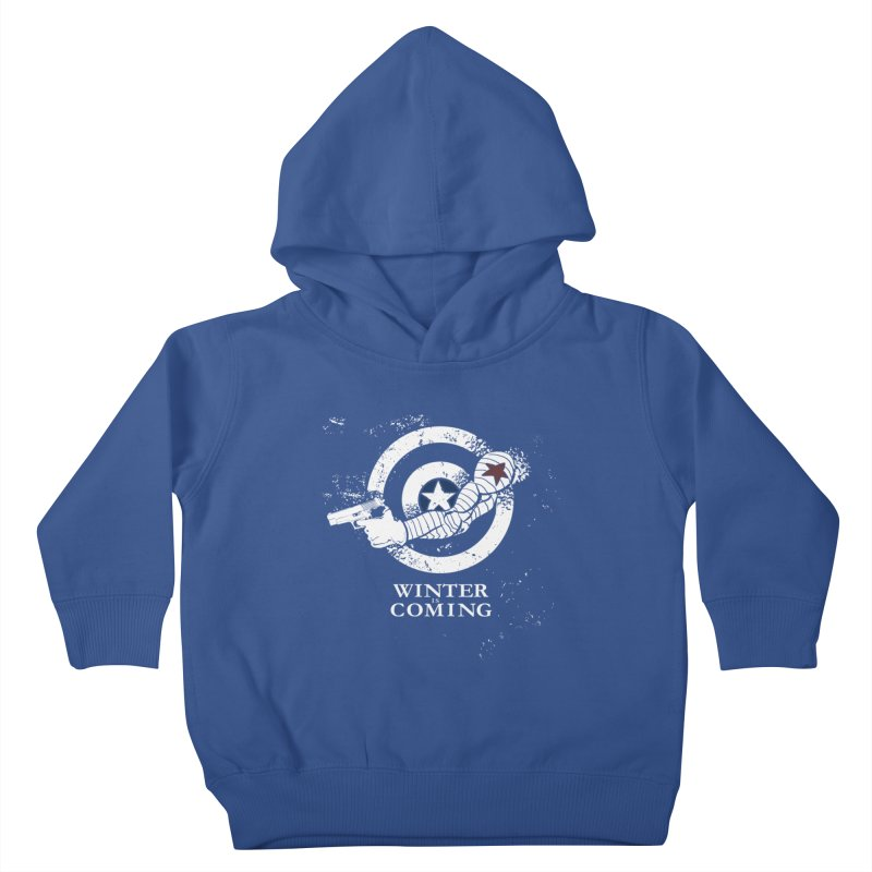 Bucky is Coming Kids Toddler Pullover Hoody by CFDunbar Designs