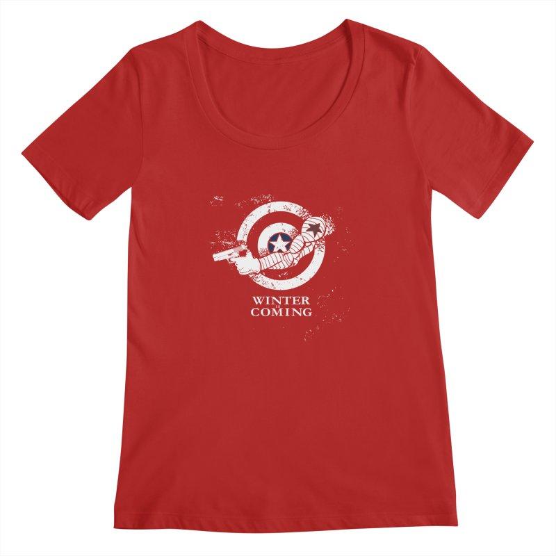 Bucky is Coming Women's Scoopneck by CFDunbar Designs
