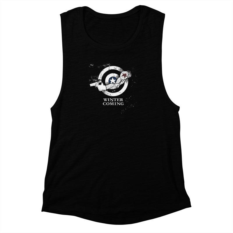 Bucky is Coming Women's Muscle Tank by CFDunbar Designs