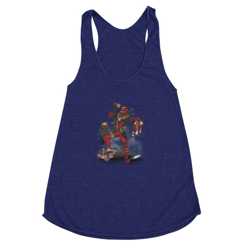 One 'Pool To Rule Them All Women's Racerback Triblend Tank by CFDunbar Designs