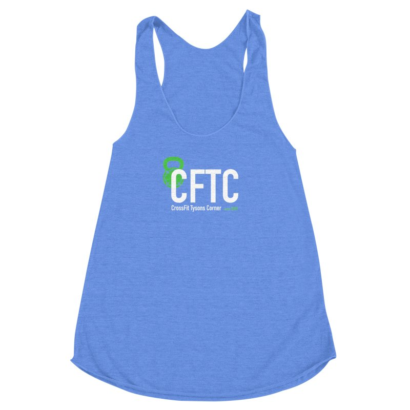 CFTC Basic - Tank Only in Women's Racerback Triblend Tank Heather Sky Blue by CrossFit Tysons Corner Apparel