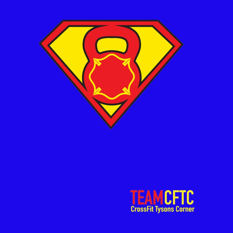 Team CFTC Small Text by CrossFit Tysons Corner Apparel