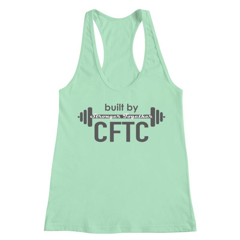 Stronger Together in Women's Racerback Tank Mint by CrossFit Tysons Corner Apparel