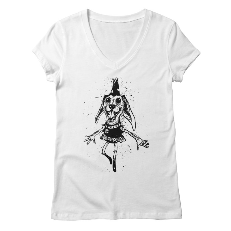 THEJOYOFDOG Women's Regular V-Neck by SOCIAL AMUSEMENT PRODUCTS. CURATED BY  CH4NNELIZER