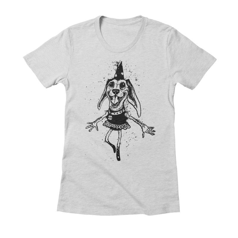 THEJOYOFDOG Women's Fitted T-Shirt by SOCIAL AMUSEMENT PRODUCTS. CURATED BY  CH4NNELIZER
