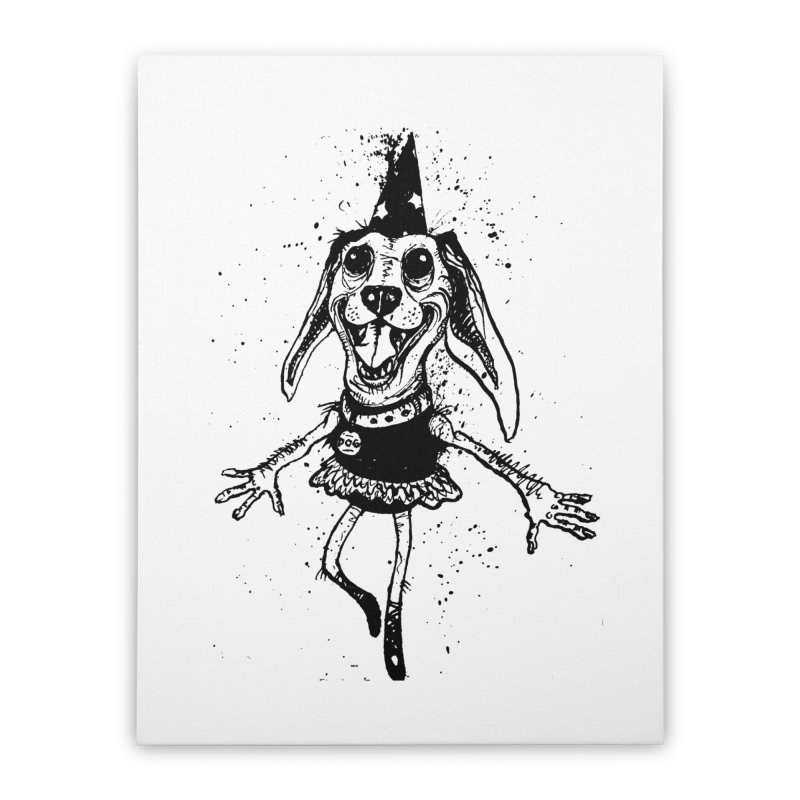 THEJOYOFDOG Home Stretched Canvas by SOCIAL AMUSEMENT PRODUCTS. CURATED BY  CH4NNELIZER