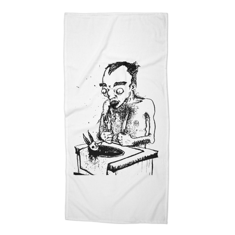 NOLUCKSTILLSMILING Accessories Beach Towel by SOCIAL AMUSEMENT PRODUCTS. CURATED BY  CH4NNELIZER