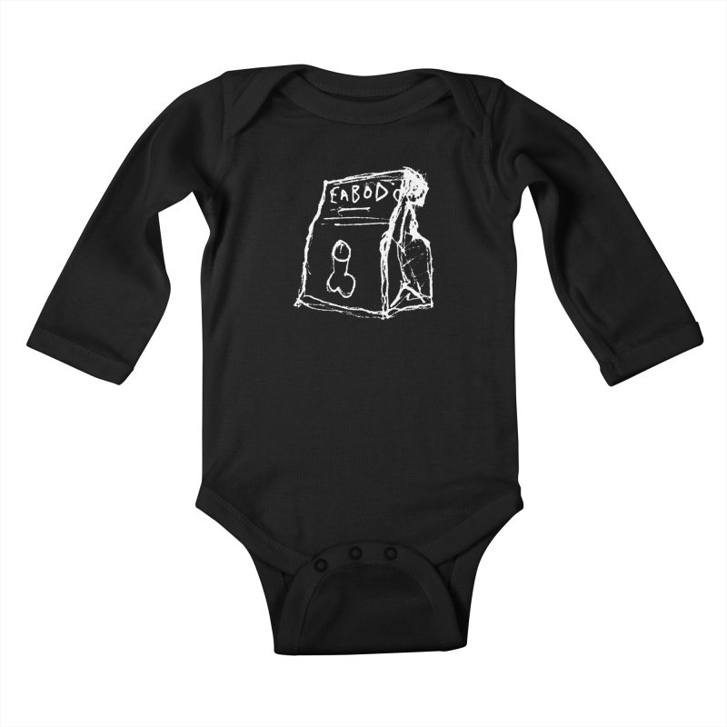 SUGGESTION 002 (EABOD) Kids Baby Longsleeve Bodysuit by SOCIAL AMUSEMENT PRODUCTS. CURATED BY  CH4NNELIZER