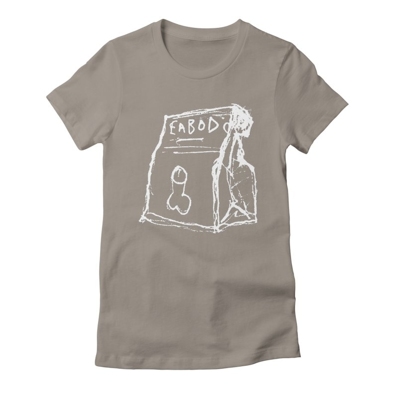 SUGGESTION 002 (EABOD) Women's Fitted T-Shirt by SOCIAL AMUSEMENT PRODUCTS. CURATED BY  CH4NNELIZER