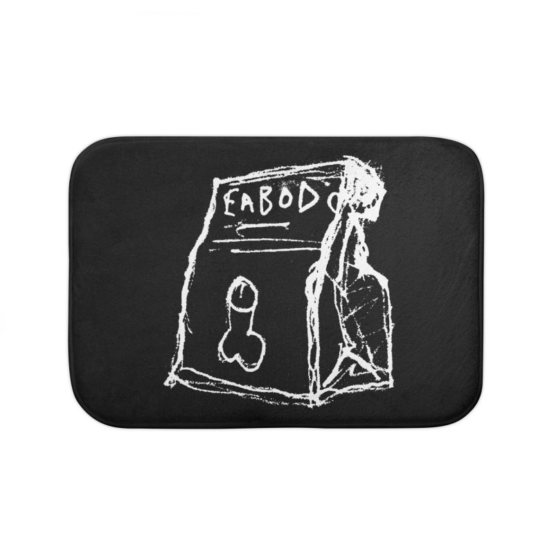 SUGGESTION 002 (EABOD) Home Bath Mat by SOCIAL AMUSEMENT PRODUCTS. CURATED BY  CH4NNELIZER