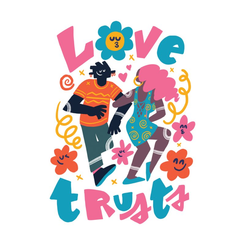 Love Trusts Men's T-Shirt by Chacko Brand