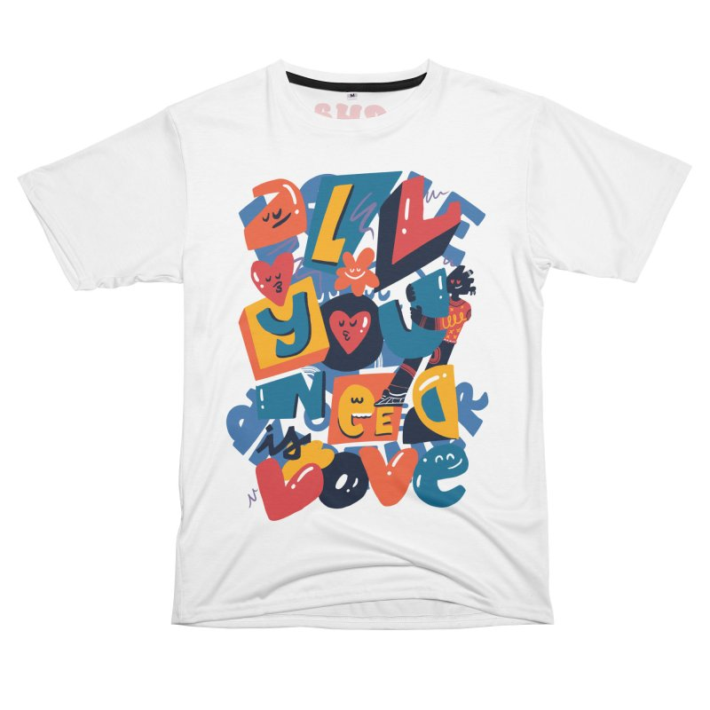 All you need is love Men's Cut & Sew by Chacko Brand