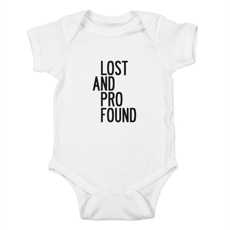 Lost And Profound Kids Baby Bodysuit by by Chad Rea