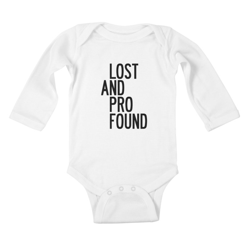 Lost And Profound Kids Baby Longsleeve Bodysuit by by Chad Rea