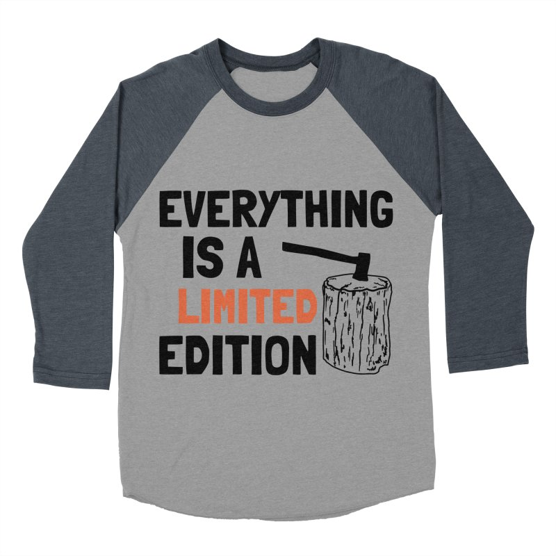 Everything Is A Limited Edition Men's Baseball Triblend Longsleeve T-Shirt by by Chad Rea