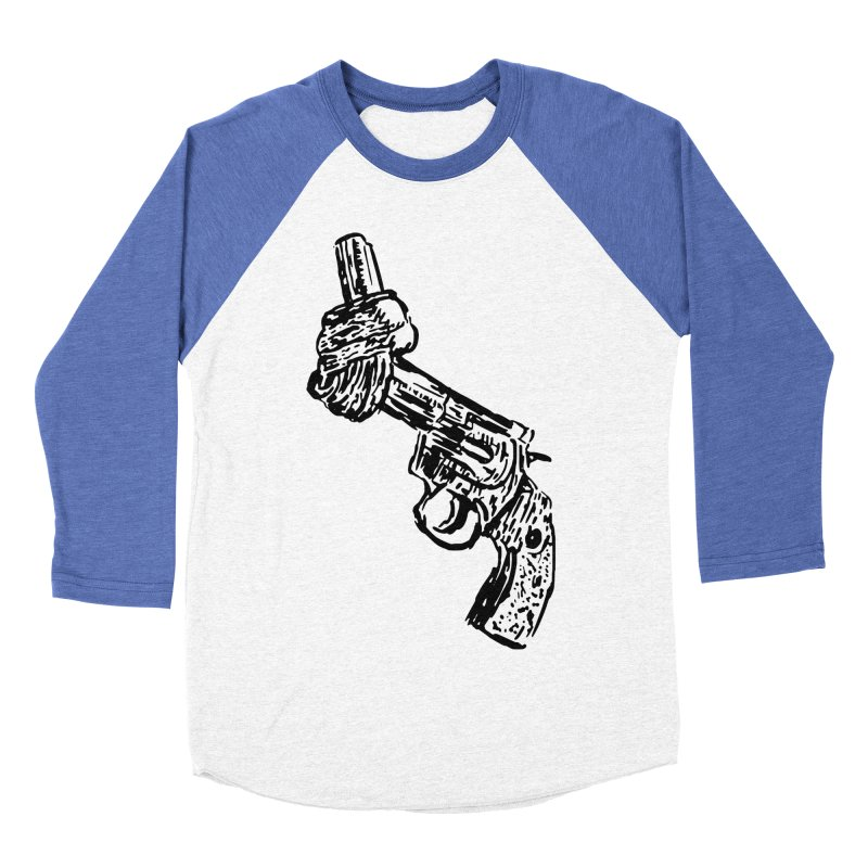 Gun-tied Men's Baseball Triblend Longsleeve T-Shirt by by Chad Rea