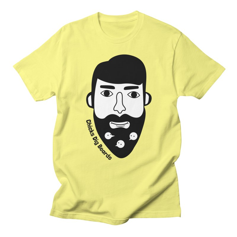 Chicks Dig Beards in Men's Regular T-Shirt Lemon by by Chad Rea
