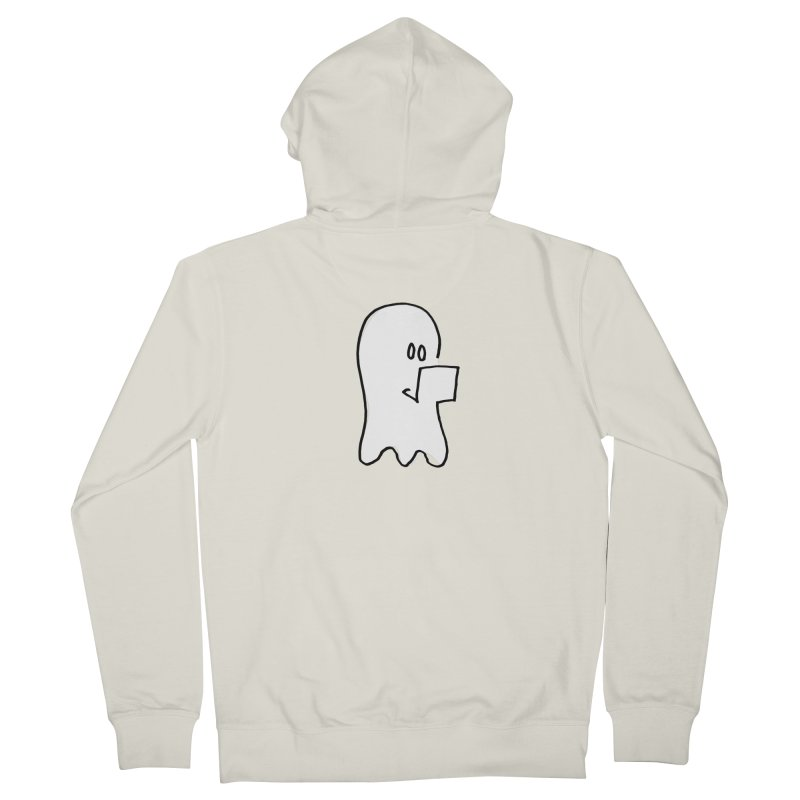 ghostwriter Men's Zip-Up Hoody by chalkmotion's Shop