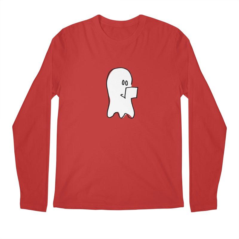 ghostwriter Men's Regular Longsleeve T-Shirt by chalkmotion's Shop