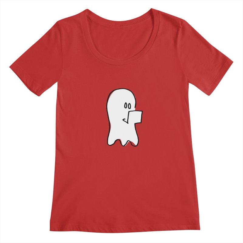 ghostwriter Women's Regular Scoop Neck by chalkmotion's Shop
