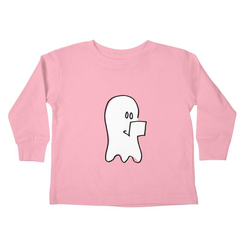ghostwriter Kids Toddler Longsleeve T-Shirt by chalkmotion's Shop