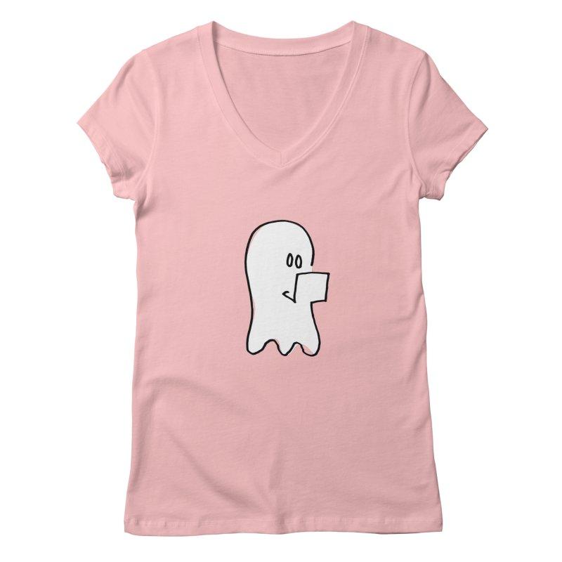 ghostwriter Women's V-Neck by chalkmotion's Shop