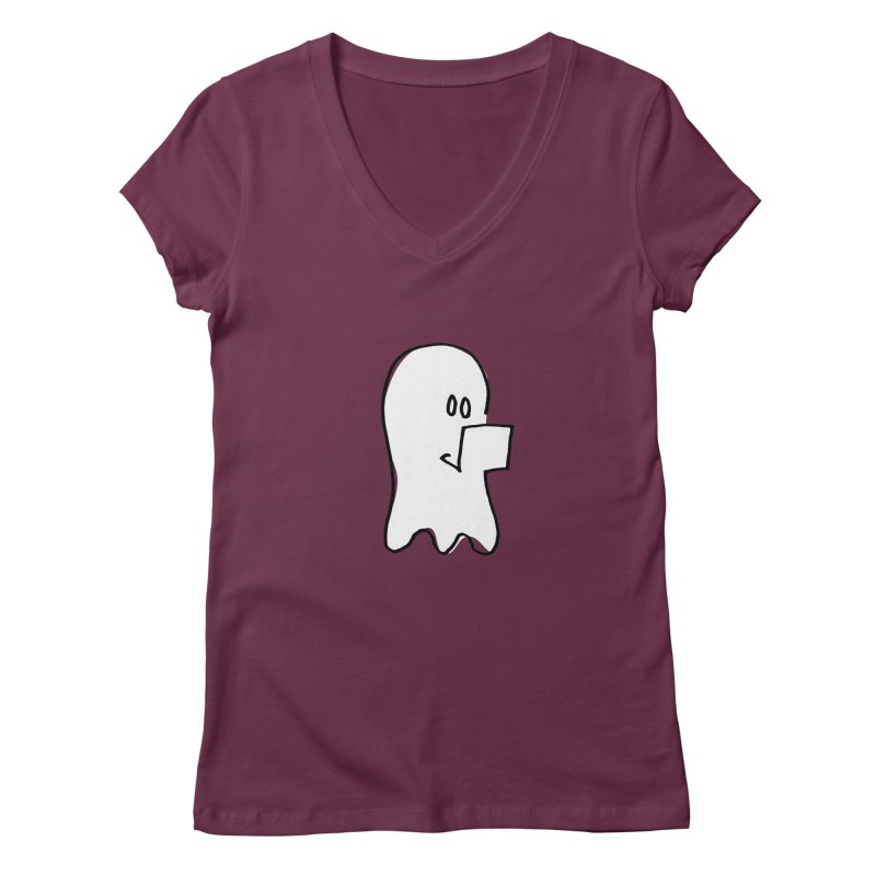 ghostwriter Women's V-Neck by chalkmotion's Shop