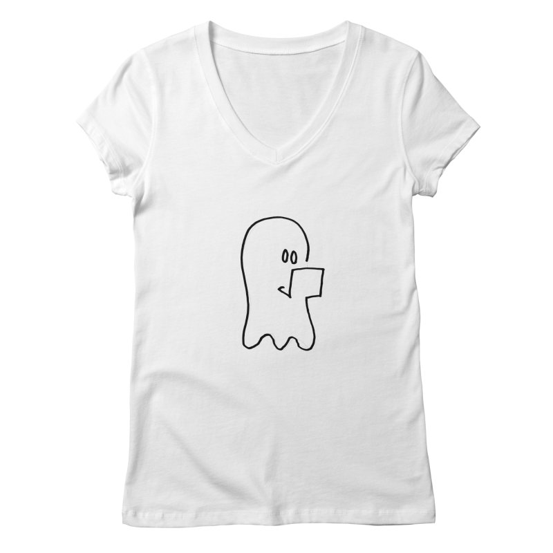 ghostwriter Women's Regular V-Neck by chalkmotion's Shop