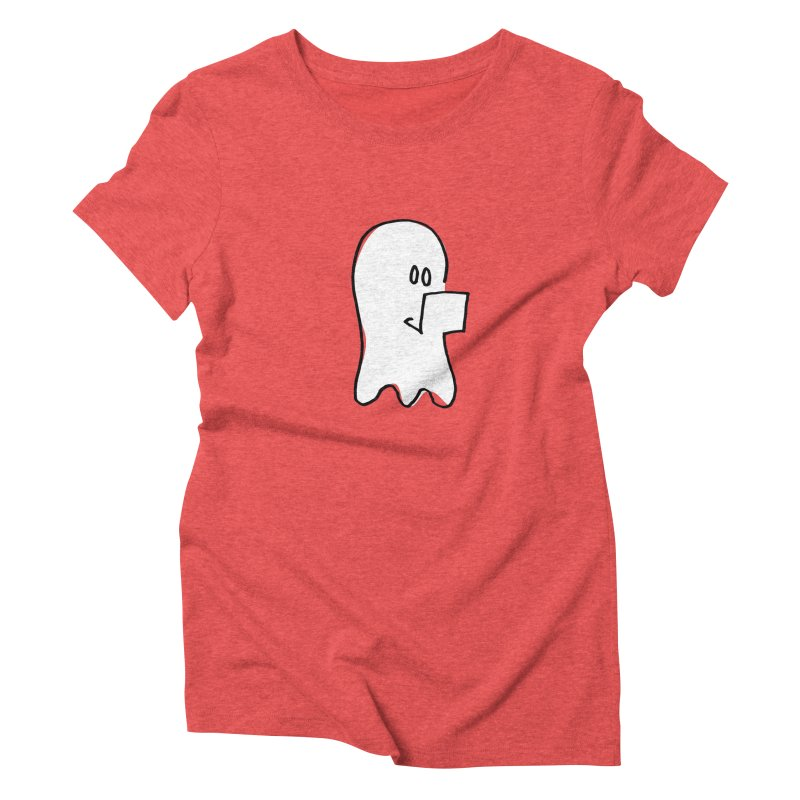 ghostwriter Women's Triblend T-Shirt by chalkmotion's Shop