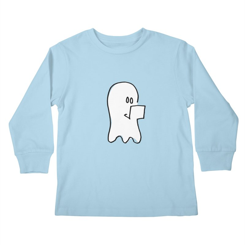 ghostwriter Kids Longsleeve T-Shirt by chalkmotion's Shop