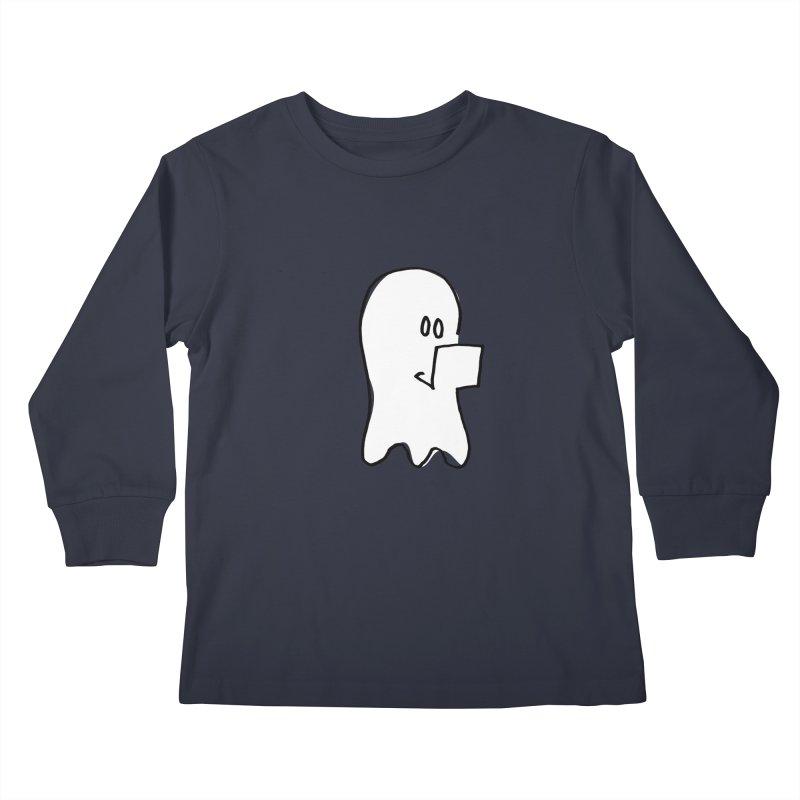 ghostwriter Kids Longsleeve T-Shirt by chalkmotion's Shop