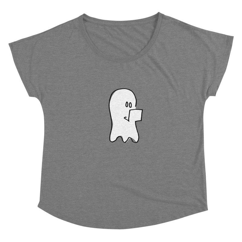 ghostwriter Women's Scoop Neck by chalkmotion's Shop