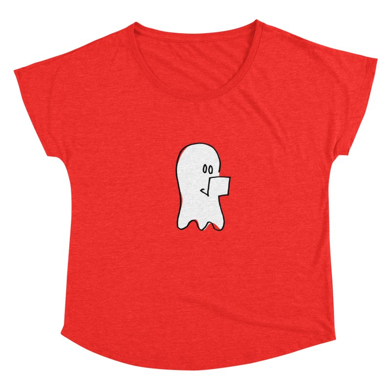 ghostwriter Women's Scoop Neck by chalkmotion's Shop