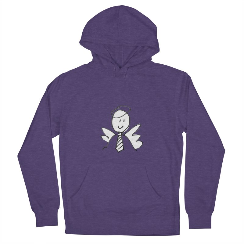 Angel Investor Men's French Terry Pullover Hoody by chalkmotion's Shop