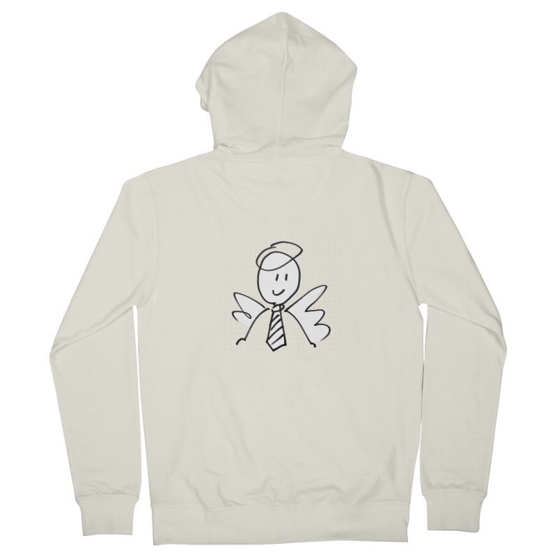Angel Investor Men's French Terry Zip-Up Hoody by chalkmotion's Shop