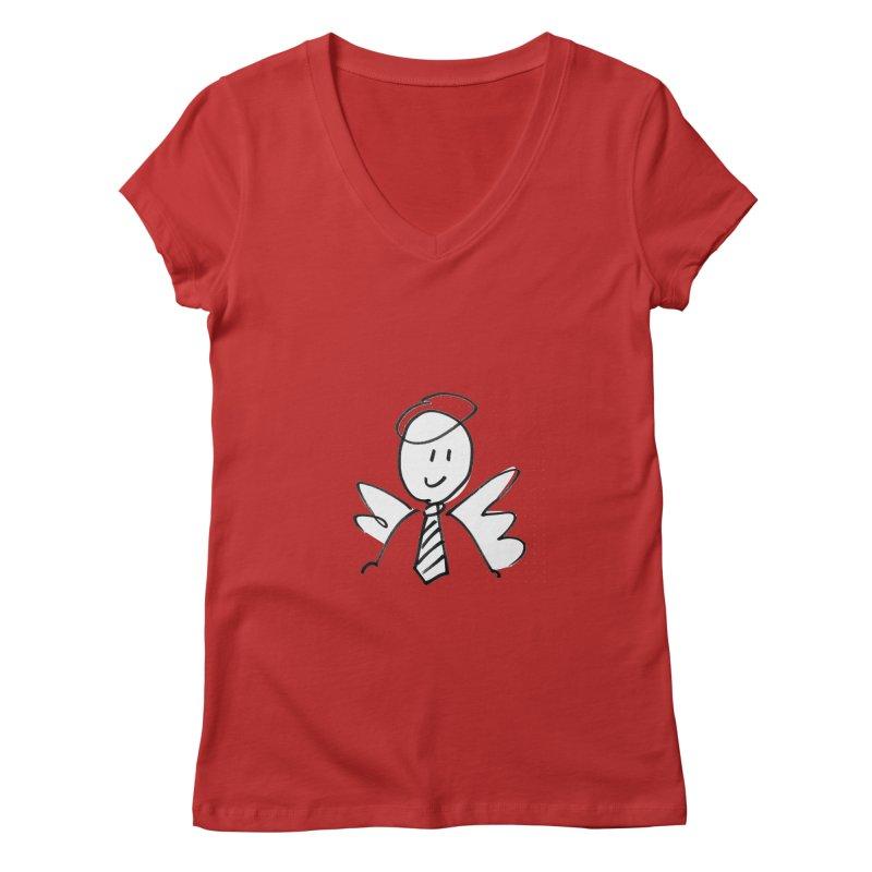 Angel Investor Women's V-Neck by chalkmotion's Shop