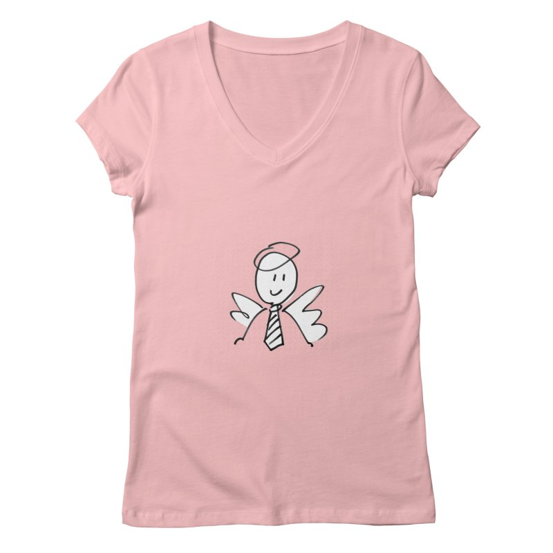 Angel Investor Women's V-Neck by chalkmotion's Shop