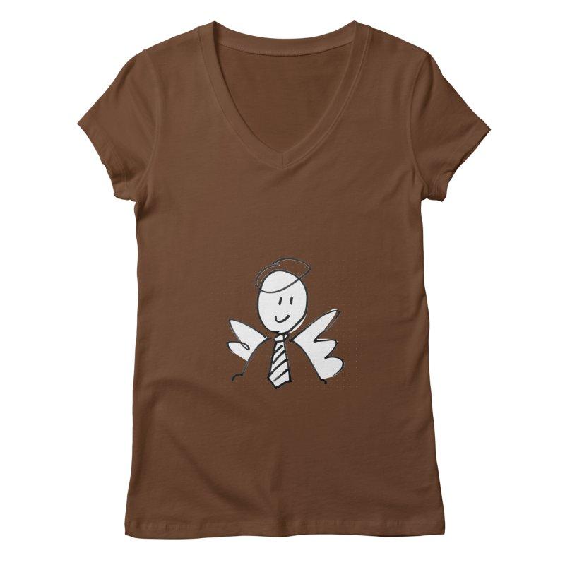 Angel Investor Women's Regular V-Neck by chalkmotion's Shop