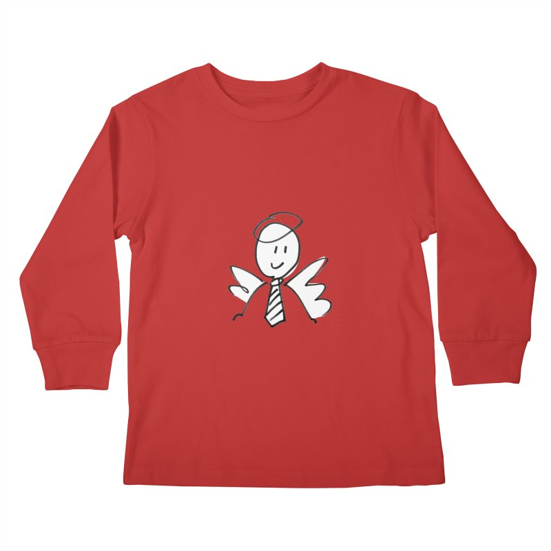 Angel Investor Kids Longsleeve T-Shirt by chalkmotion's Shop