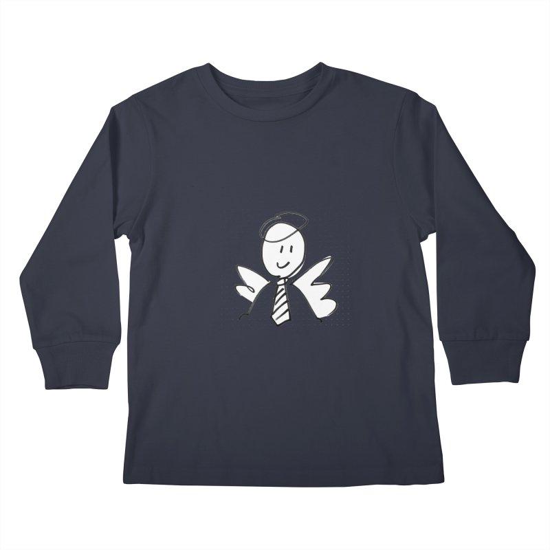Angel Investor Kids Longsleeve T-Shirt by chalkmotion's Shop