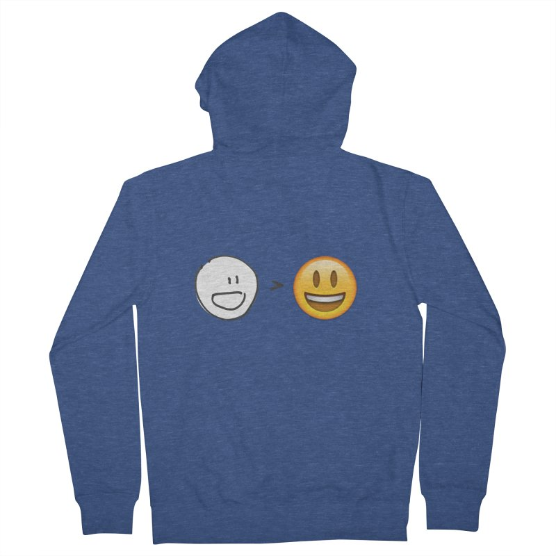 simple drawing vs graphics Women's Zip-Up Hoody by chalkmotion's Shop