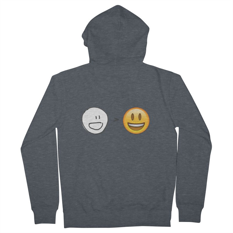 simple drawing vs graphics Men's Zip-Up Hoody by chalkmotion's Shop