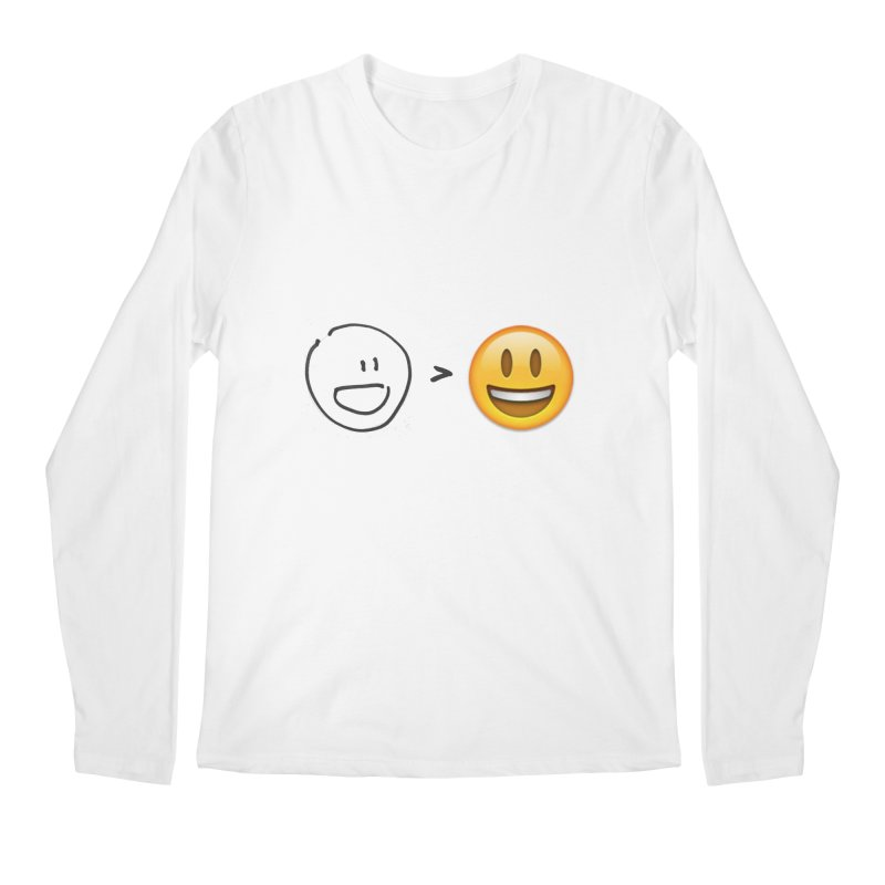 simple drawing vs graphics Men's Longsleeve T-Shirt by chalkmotion's Shop