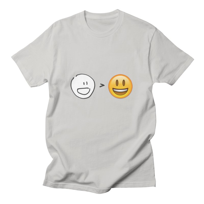 simple drawing vs graphics Men's T-Shirt by chalkmotion's Shop