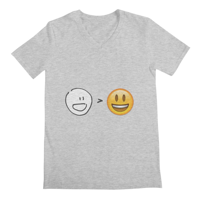 simple drawing vs graphics Men's V-Neck by chalkmotion's Shop