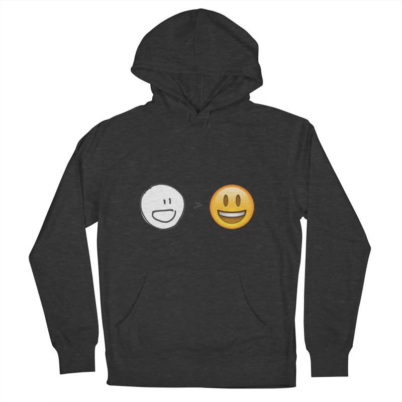 simple drawing vs graphics Women's French Terry Pullover Hoody by chalkmotion's Shop