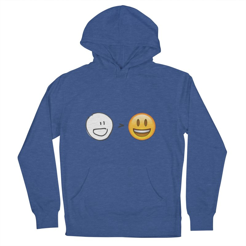 simple drawing vs graphics Women's Pullover Hoody by chalkmotion's Shop