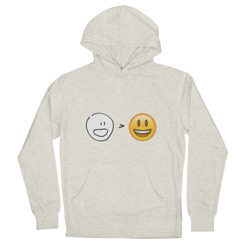 simple drawing vs graphics Men's French Terry Pullover Hoody by chalkmotion's Shop